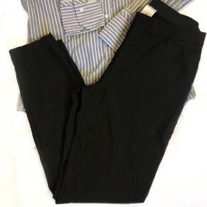 Pinstripe Pull-on Dress Pants Skinny Fit